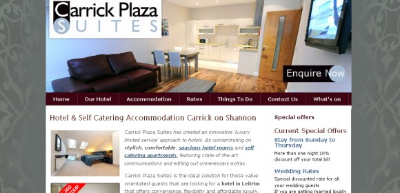 Carrick Plaza Suites, Carrick-on-Shannon, website