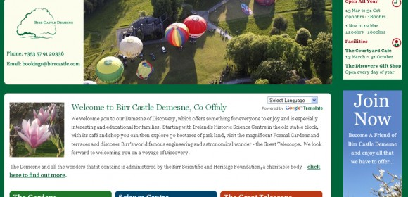 Launch of Birr Castle Demesne website