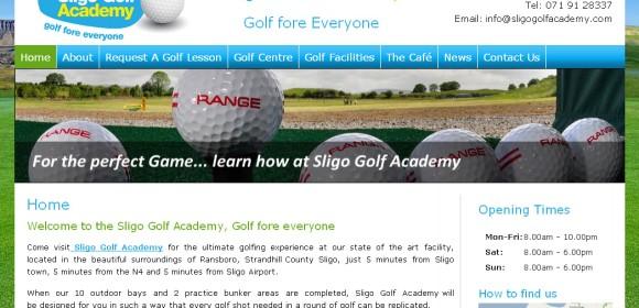Launch of Sligo Golf Academy website