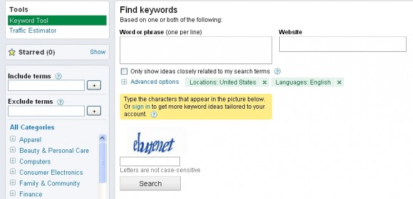 Google Keyword Tool for SEO – An introduction
