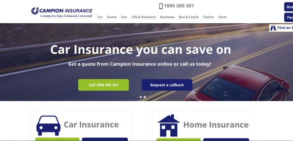 Campion Insurance Responsive Redesign