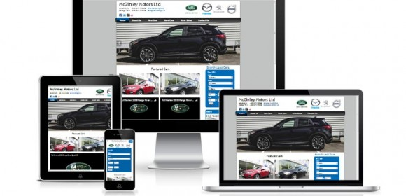 New mobile site for McGinley Motors Donegal