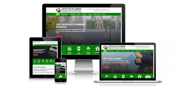 New Responsive Website for Pete The Plumber Sligo