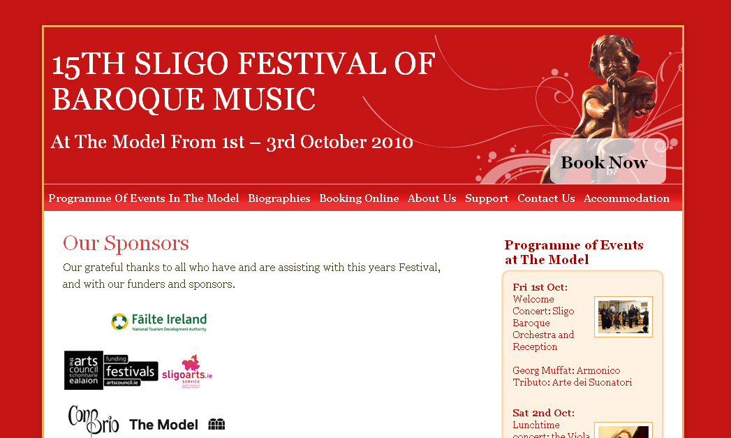 Launch of Sligo Festival of Baroque Music website