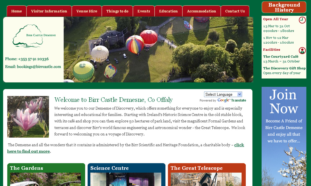 Launch of Birr Castle Demesne website