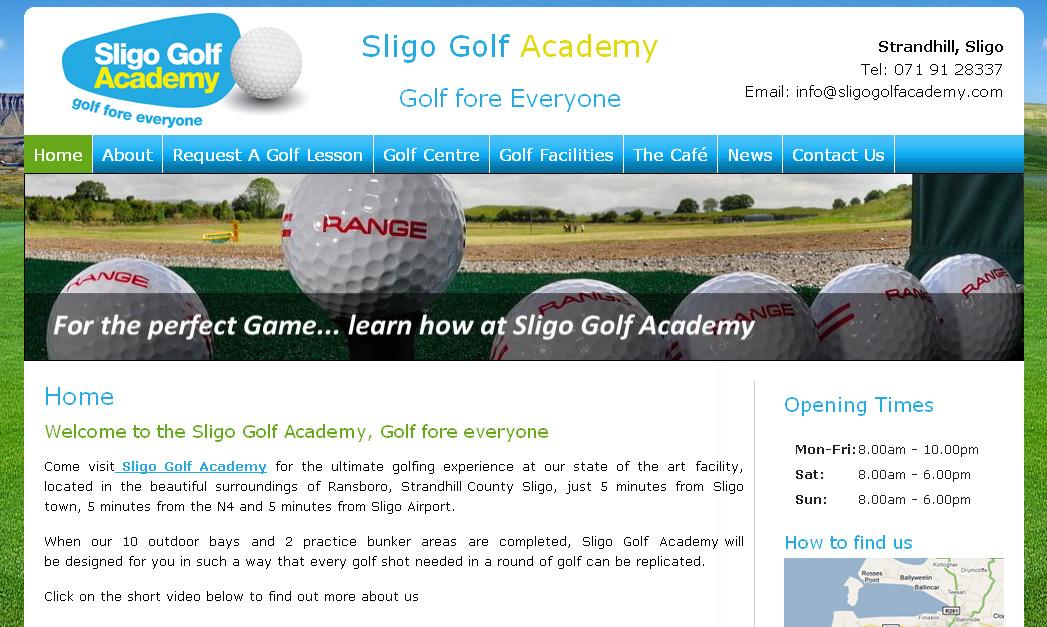 Launch of Sligo Golf Academy website