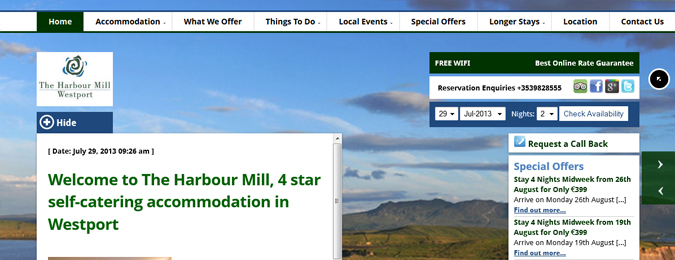 New Responsive Website for The Harbour Mill in Westport