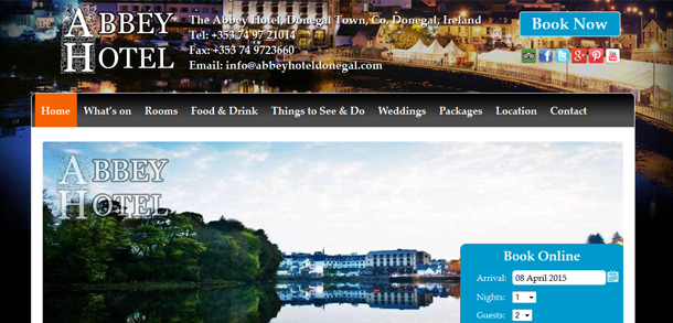 The Abbey Hotel Donegal Ireland