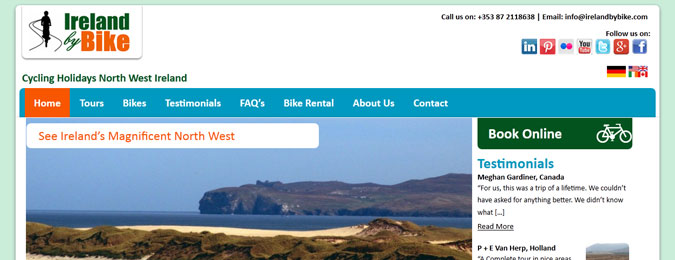 New Responsive Website for Ireland By Bike