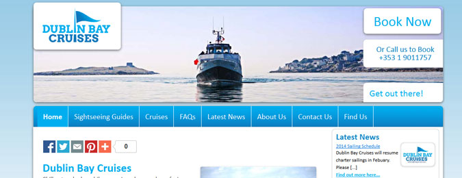 New Responsive Website for Dublin Bay Cruises