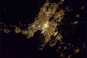 Dublin from earth orbit by Chris Hadfield