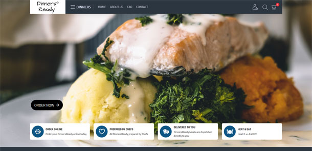 Dinners Ready eCommerce Website