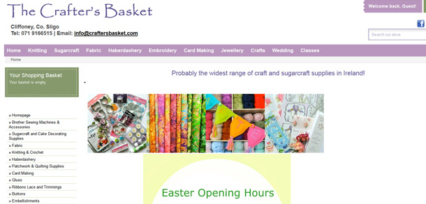 The Crafter's Basket Responsive eCommerce Website