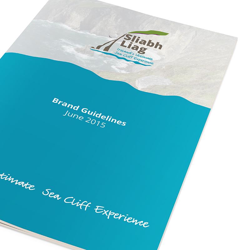 Sliabh Liag Brand Guidelines Cover closeup