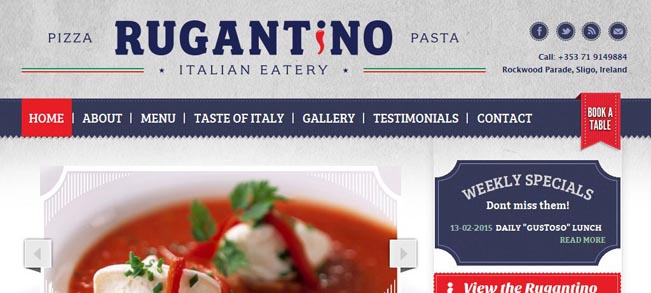 New Website Launched for Rugantino Italian Eatery