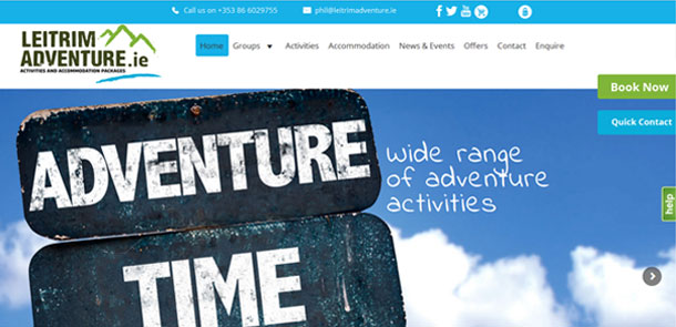 Leitrim Adventure Responsive eCommerce Site