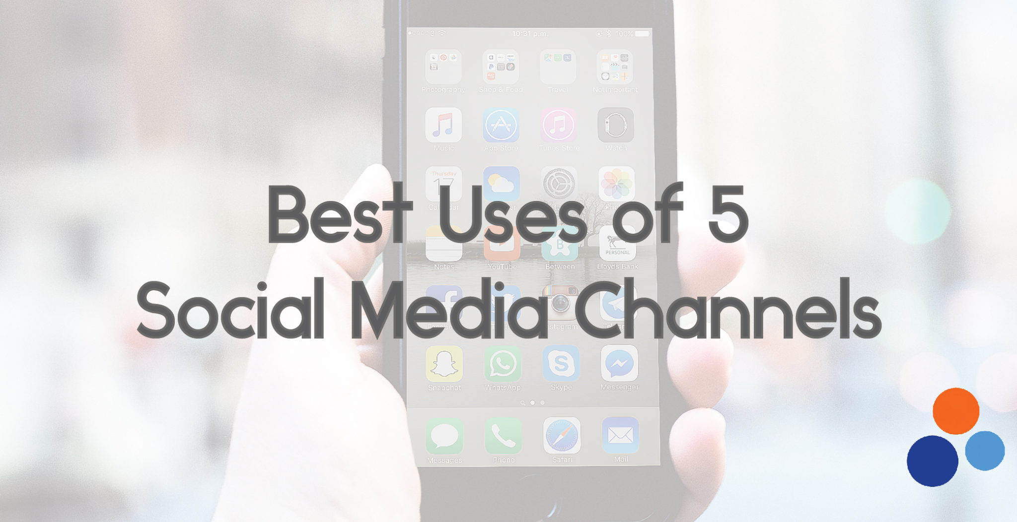 Best Uses of 5 Social Media Channels