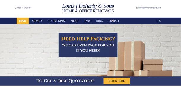 Louis J Doherty & Sons, Home and Office Removals