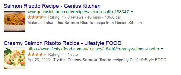 Rich Snippets Salmon Risotto Recipes