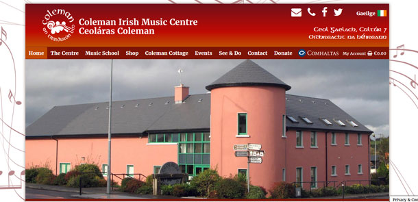 Coleman Traditional Irish Music Centre