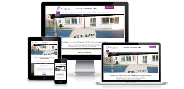 New responsive WordPress site for Woodhaven Sligo
