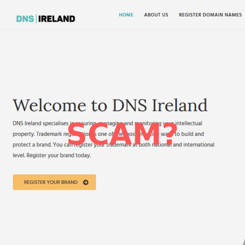 Possible scam alert – DNSireland.org domain name registration emails