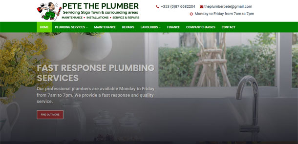 Pete The Plumber Website Redesign
