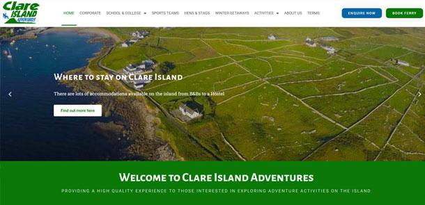 Clare Island Adventures Redesign