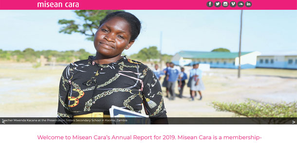 Microsite for Misean Cara Annual Report 2019