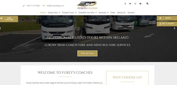 Fureys Coaches Sligo redesign